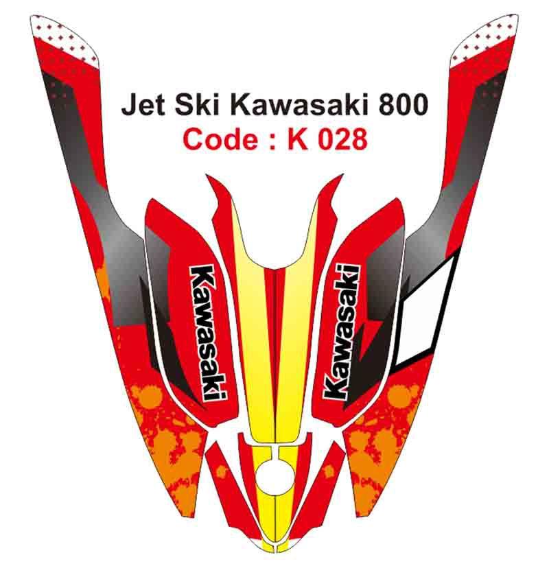 KAWASAKI 800 JET SKI GRAPHIC DECAL KIT CODE.K 028