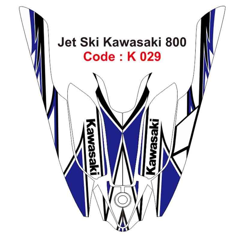 KAWASAKI 800 JET SKI GRAPHIC DECAL KIT CODE.K 029