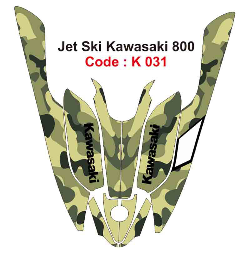 KAWASAKI 800 JET SKI GRAPHIC DECAL KIT CODE.K 031