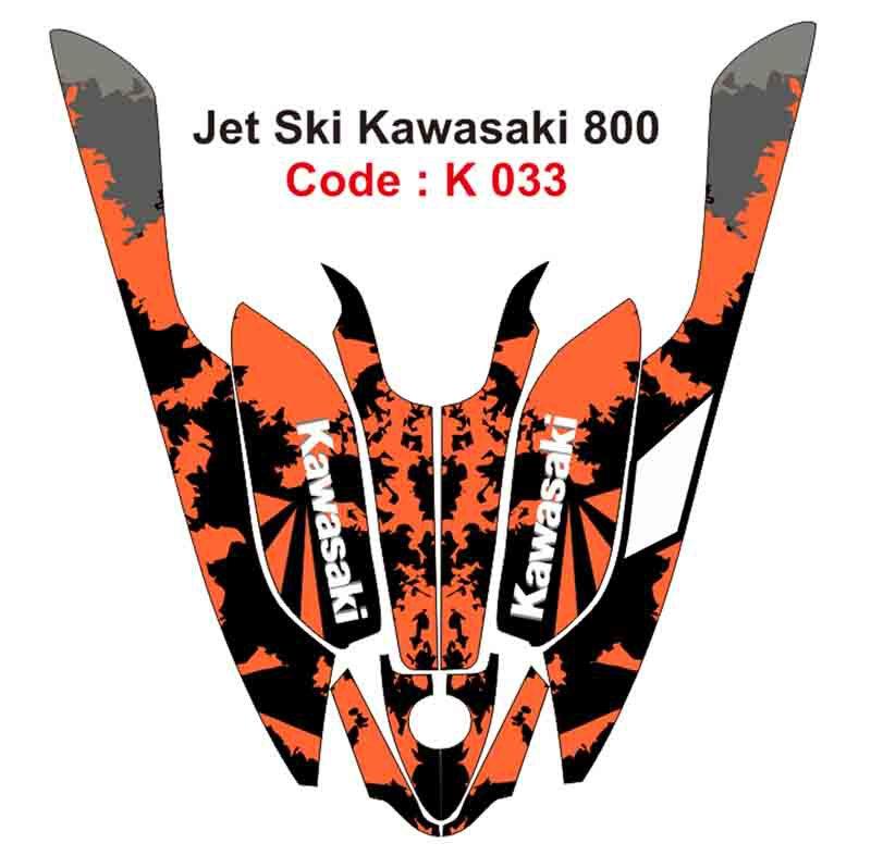KAWASAKI 800 JET SKI GRAPHIC DECAL KIT CODE.K 033
