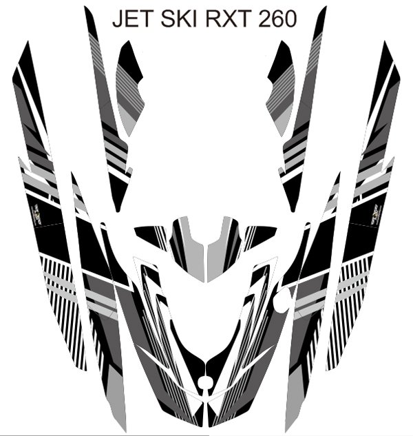 SEADOO RXT 260 JET SKI GRAPHIC DECAL KIT CODE.RXT 001