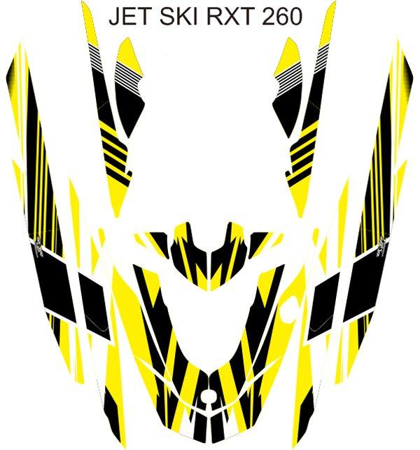 SEADOO RXT 260 JET SKI GRAPHIC DECAL KIT CODE.RXT 003