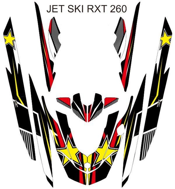 SEADOO RXT 260 JET SKI GRAPHIC DECAL KIT CODE.RXT 005