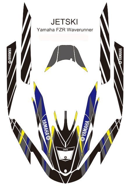 YAMAHA FZR WAVERUNNER JET SKI GRAPHIC DECAL KIT CODE.FZR 003