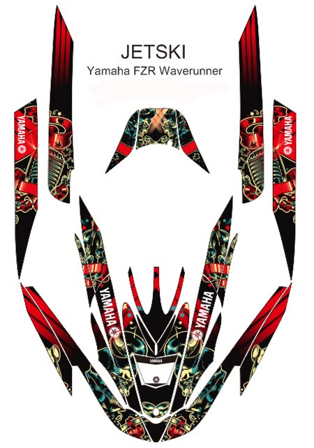 YAMAHA FZR WAVERUNNER JET SKI GRAPHIC DECAL KIT CODE.FZR 006