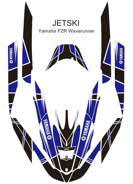 YAMAHA FZR WAVERUNNER JET SKI GRAPHIC DECAL KIT CODE.FZR 012