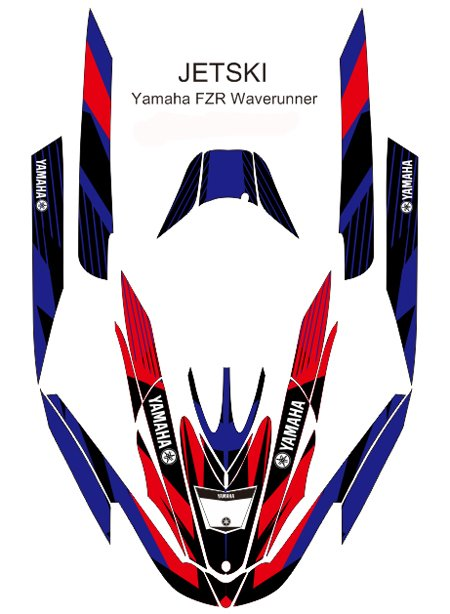 YAMAHA FZR WAVERUNNER JET SKI GRAPHIC DECAL KIT CODE.FZR 020