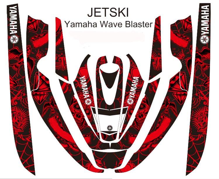 YAMAHA WAVE BLASTER JET SKI GRAPHIC DECAL KIT CODE.YWB 001