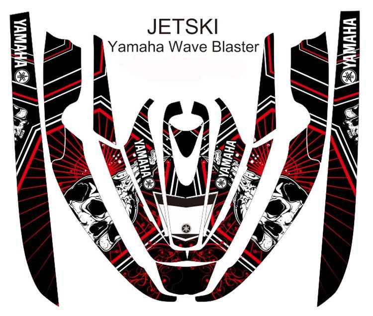 YAMAHA WAVE BLASTER JET SKI GRAPHIC DECAL KIT CODE.YWB 002