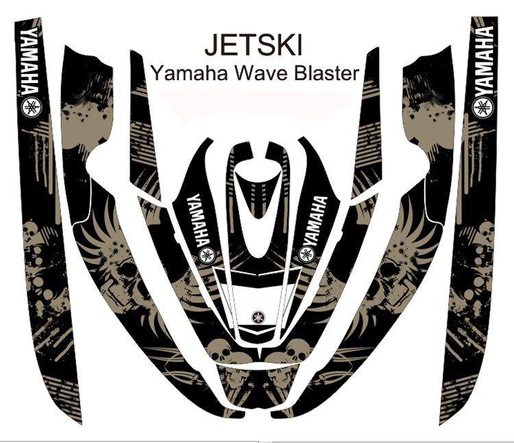YAMAHA WAVE BLASTER JET SKI GRAPHIC DECAL KIT CODE.YWB 003