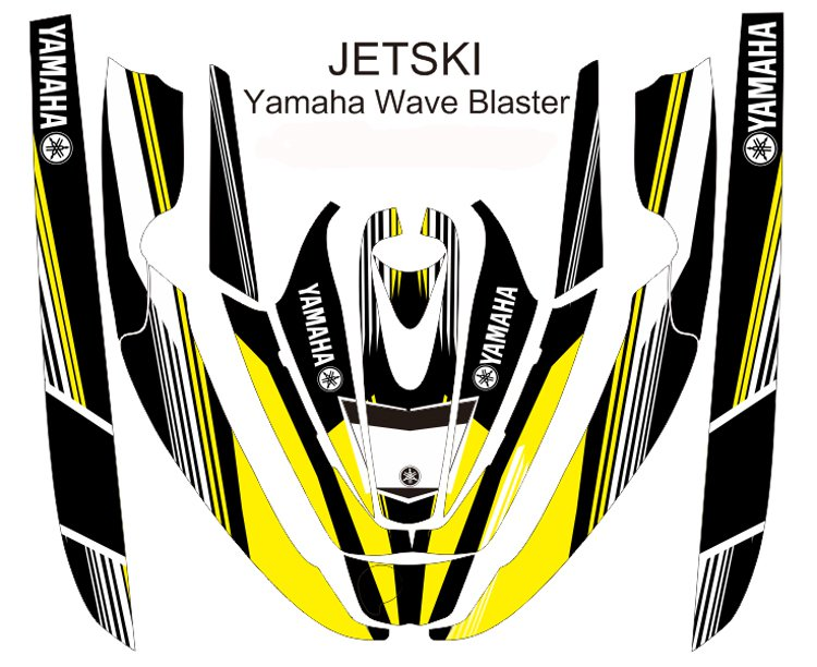 YAMAHA WAVE BLASTER JET SKI GRAPHIC DECAL KIT CODE.YWB 004