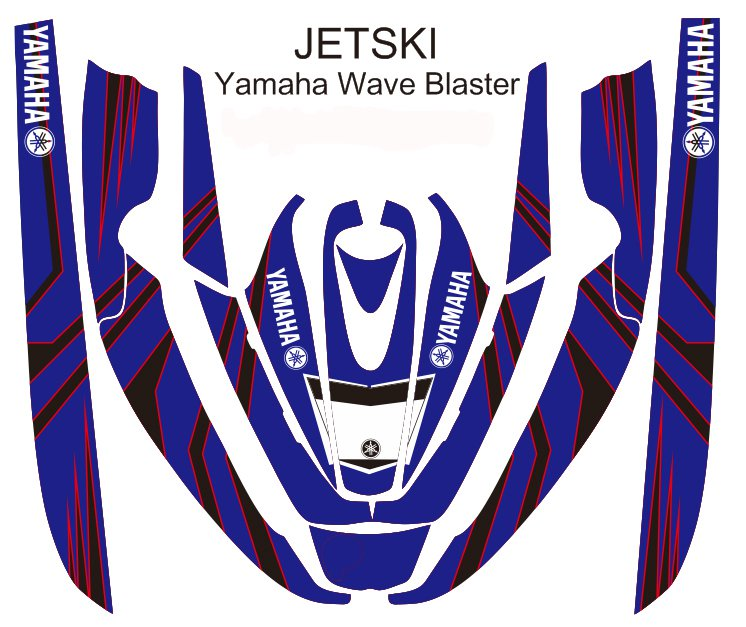 YAMAHA WAVE BLASTER JET SKI GRAPHIC DECAL KIT CODE.YWB 005