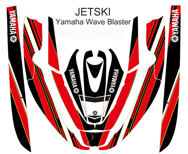 YAMAHA WAVE BLASTER JET SKI GRAPHIC DECAL KIT CODE.YWB 007