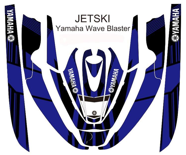 YAMAHA WAVE BLASTER JET SKI GRAPHIC DECAL KIT CODE.YWB 012