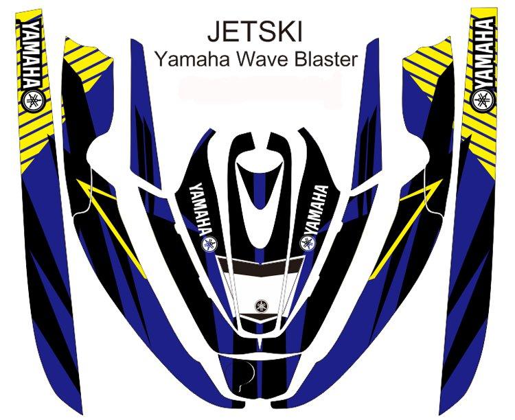 YAMAHA WAVE BLASTER JET SKI GRAPHIC DECAL KIT CODE.YWB 014