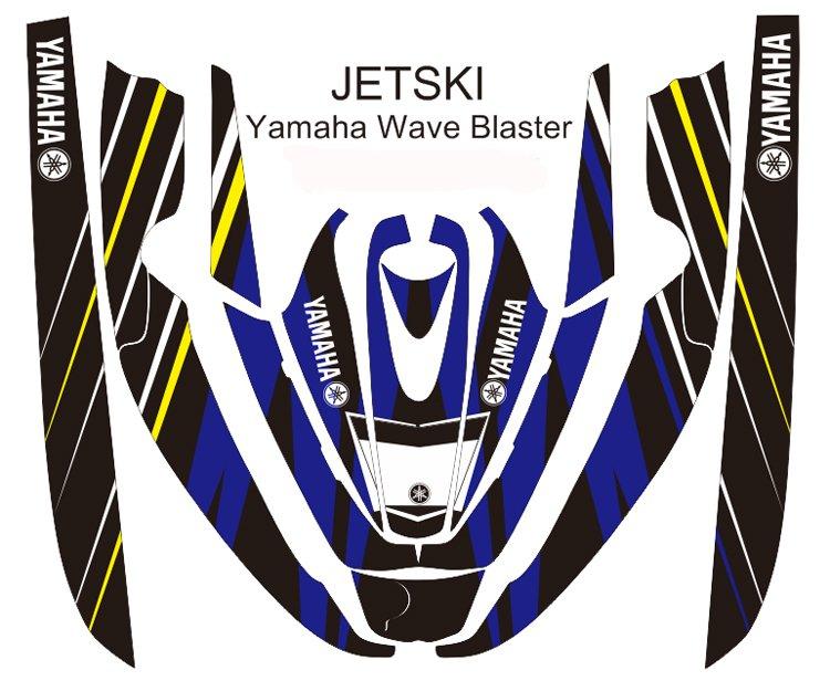 YAMAHA WAVE BLASTER JET SKI GRAPHIC DECAL KIT CODE.YWB 015