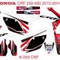 HONDA CRF 250-450 2013-2014 GRAPHIC DECAL KIT CODE. N 059