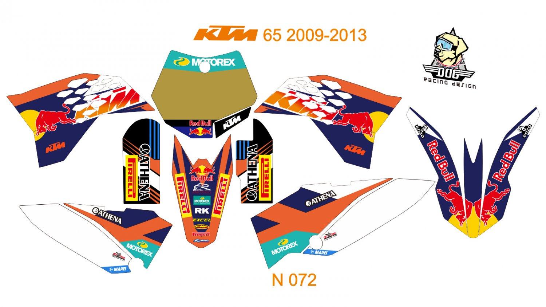 KTM 65 2009-2013 GRAPHIC DECAL KIT CODE N 072