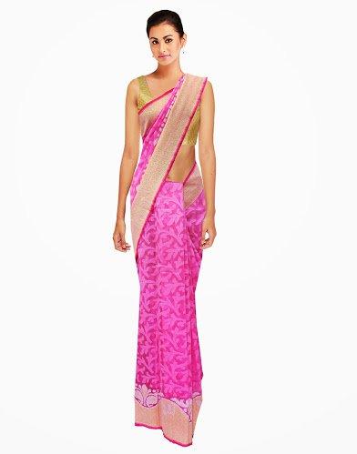 Resplendent Traditional Designer Partywear Handmade Saree