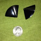 Vintage Costume Black & Silver Clips By Monet