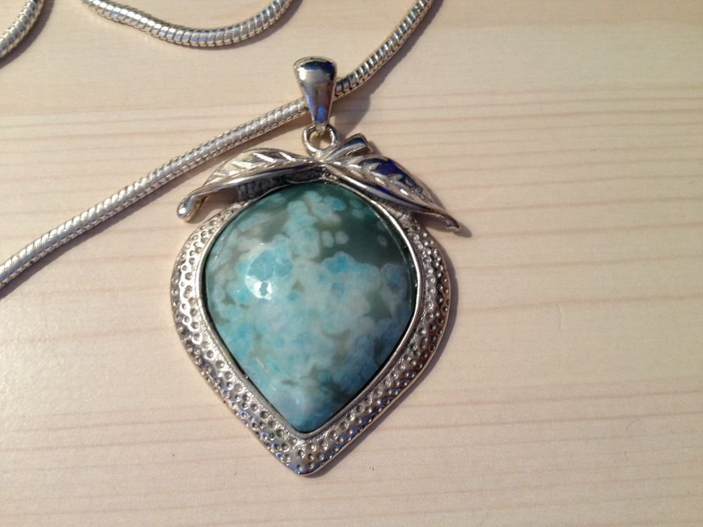 """""""MAMA SUES """" SILVER & TURQUOISE NECKLACE"""