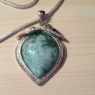 """MAMA SUES "" SILVER & TURQUOISE NECKLACE"