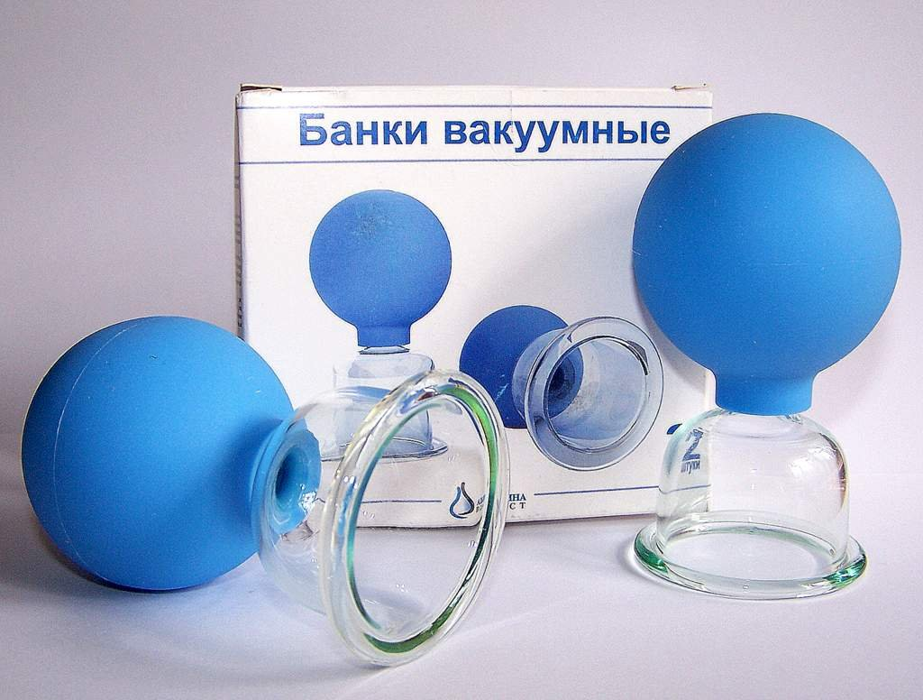 VACUUM MASSAGE CUPS SET OF 2 GLASS CUPS FOR MASSAGE