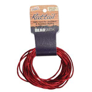 2mm Rattail Cord, Wine, 6yds