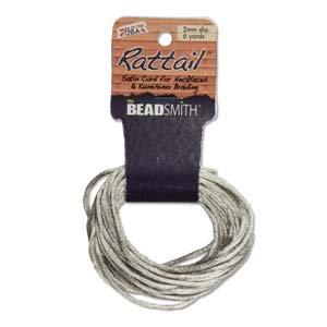 2mm Rattail Cord Tan, 6yds