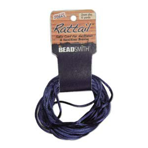 2mm Rattail Cord, Navy, 6yds