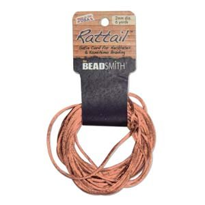 2mm Rattail Cord, Peach, 6yds