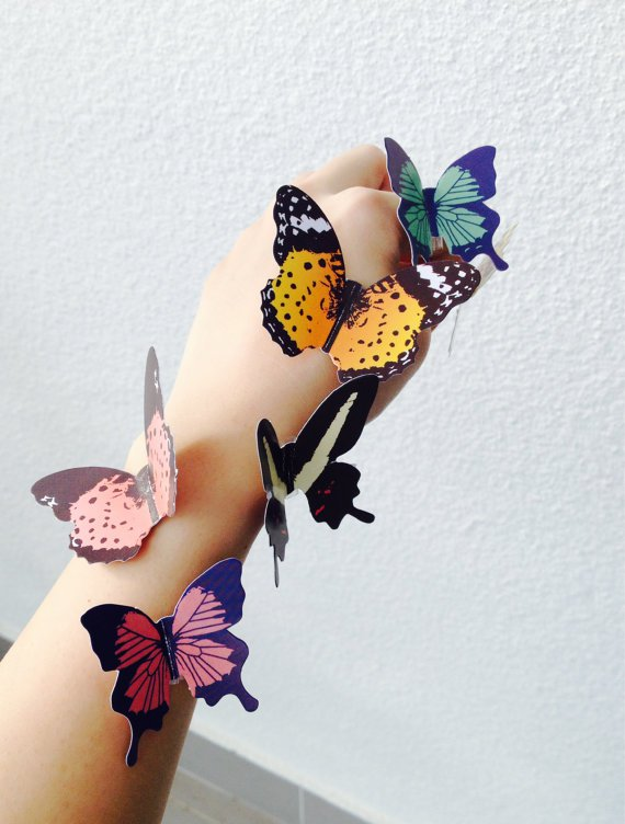 Free shipping! 3-D Paper Butterfly Wall Decor, interior decoration, scrapbook