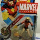 MARVEL UNIVERSE Ms MARVEL ACTION FIGURE Short Hair Variant 3.75""