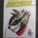 Rocket Raccoon #1 Signed & Remarked by Ken Haeser w/COA Marvel