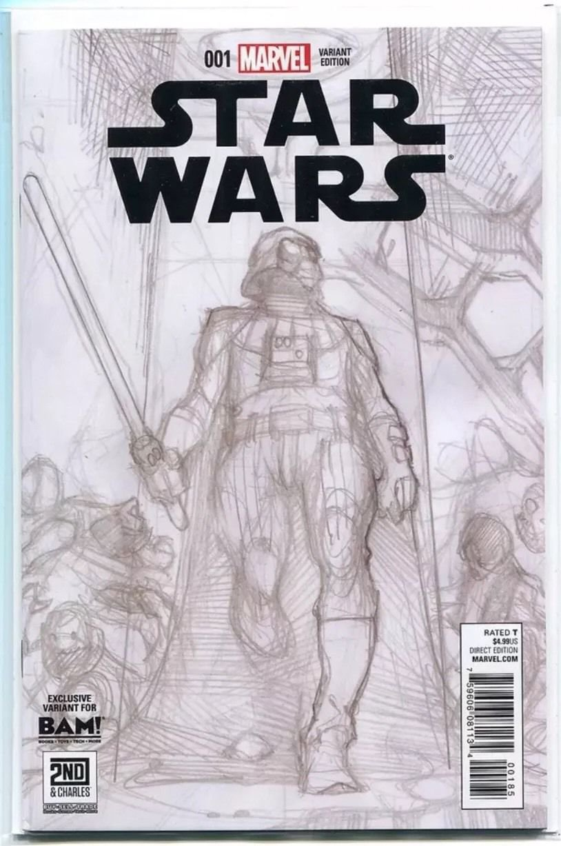 Star Wars #1 - BAM Sketch Variant - Simone Bianchi - Darth Vader - Near Mint