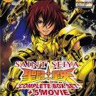 DVD ANIME SAINT SEIYA Complete Box Set 159 Episodes + 5 Movies