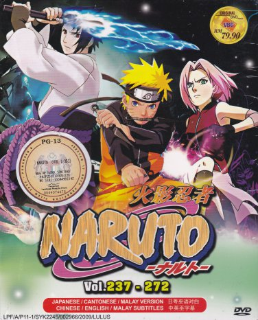 DVD ANIME NARUTO SHIPPUDEN Vol.237-272 Box Set 36 Episode Region All Free Ship