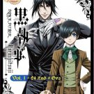 DVD ANIME BLACK BUTLER Kuroshitsuji Vol.1-24End + OVA Season 1 English Sub
