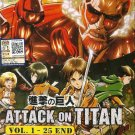 DVD JAPANESE ANIME ATTACK ON TITAN Vol.1-25 End Shingeki no Kyojin English Sub