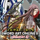 DVD ANIME SWORD ART ONLINE SOA Season 2 Vol.1-24End English Sub Region All