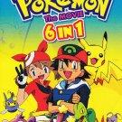 DVD ANIME POKEMON 6 Movies Pikachu Cantonese Audio Chinese Sub Region All