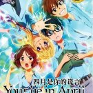 DVD JAPANESE ANIME Your Lie In April Vol.1-22End + OVA Shigatsu wa Kimi no Uso