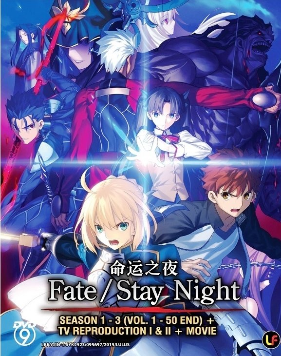 DVD JAPANESE ANIME Fate/Stay Night Season 1-3 + TV Reproduction + Movie Eng Sub