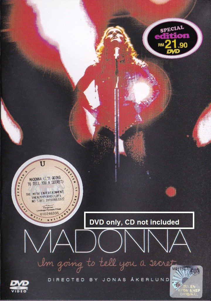 MADONNA I'm Going To Tell You A Secret Re-Invention World Tour DVD NEW NTSC