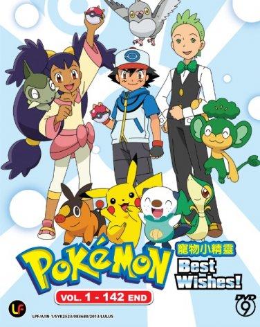 DVD ANIME POKEMON Best Wishes Vol.1-142End Box Set Cantonese Audio English Sub