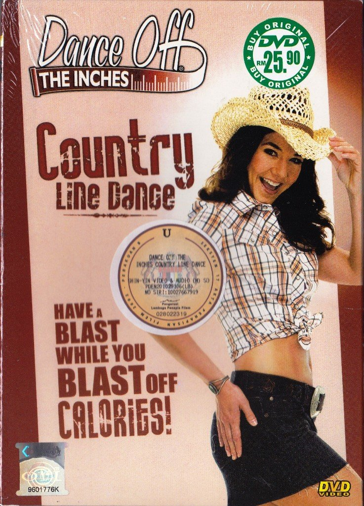 DVD Dance Off The Inches Country Line Dance Amy Blackburn Fitness Exercise