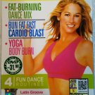 DENISE AUSTIN Fat Burning Dance Mix Cardio Blast Yoga Body Burn 3 DVD Set