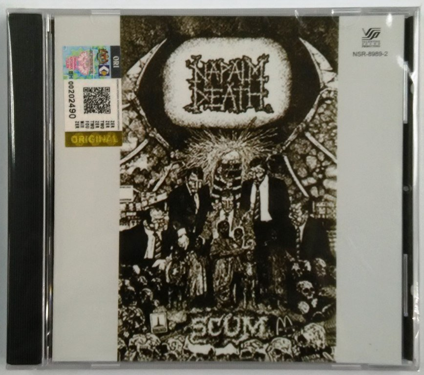 Napalm Death �Scum CD NEW Malaysia Release Death Metal Grindcore Harcore Punk