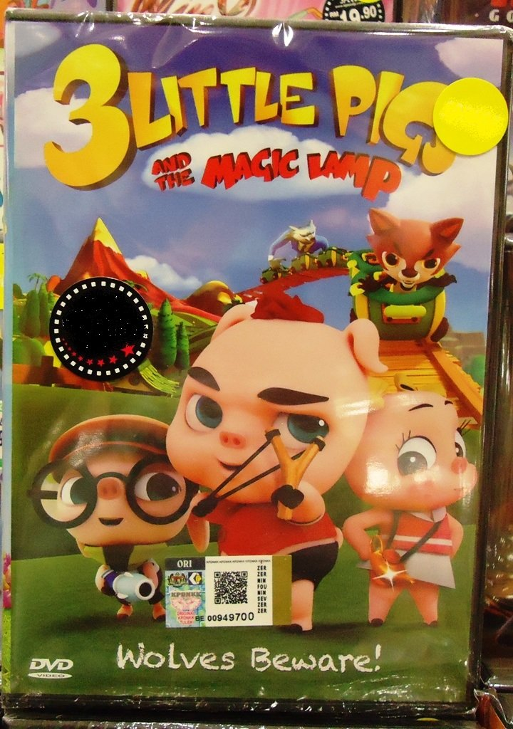 3 Little Pigs And The Magic Lamp Anime DVD