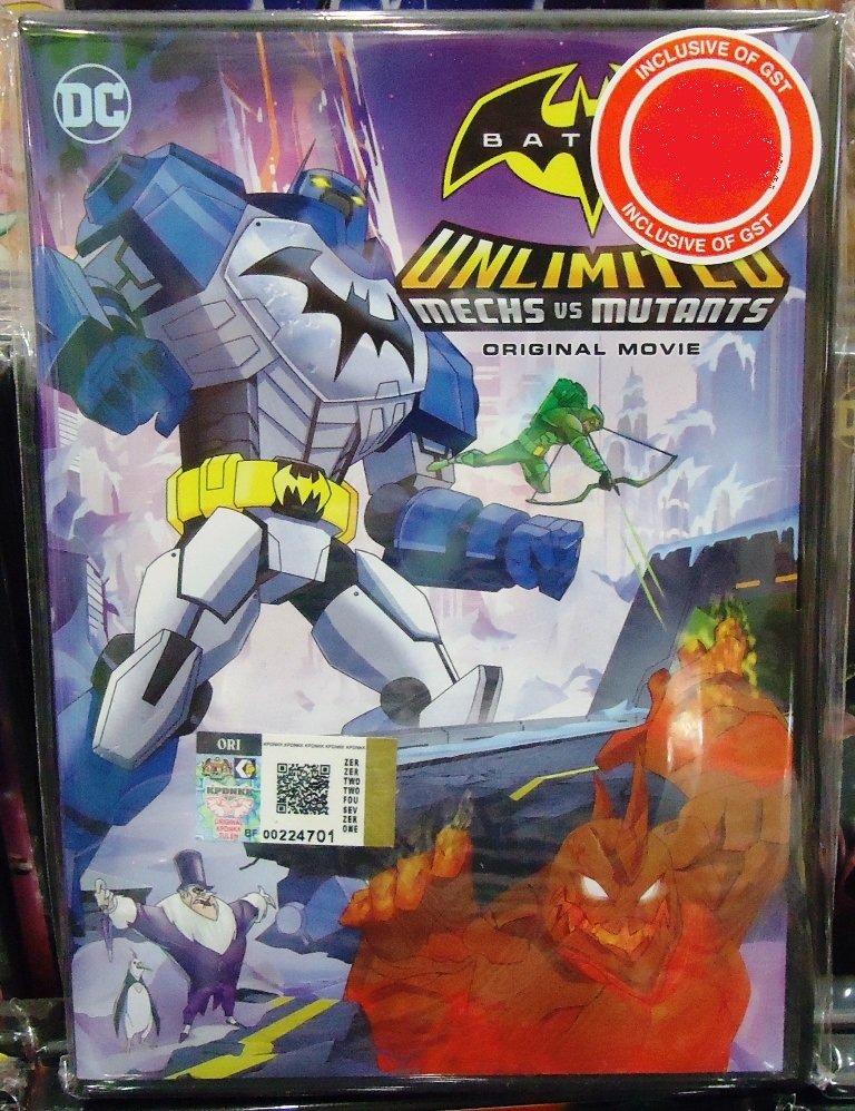 DC Movie Batman Unlimited Mechs vs Mutants Anime DVD